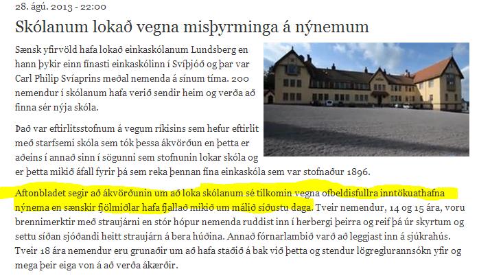 Busun í Svíþjóð