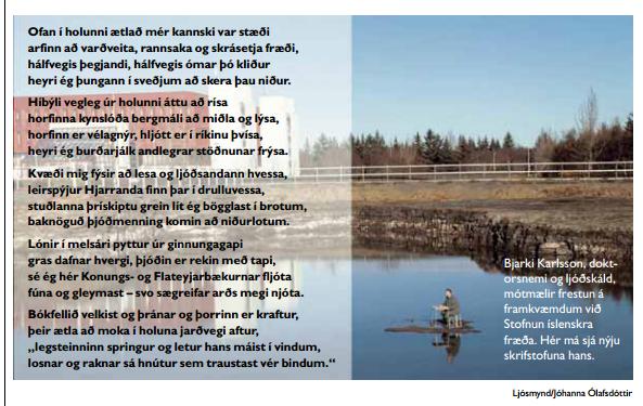 Bjarki Karlsson að störfum