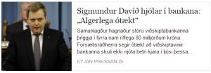 Sigmundur Davíð hjólar í bankana